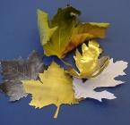 Herfstblad van metaal.