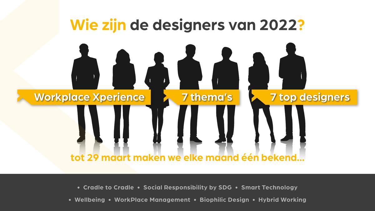 Wie zijn de designers van 2022?